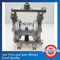 QBY 25 Stainless Steel Air Operated Double Diaphragm Pump 3m3 H Bare Pump