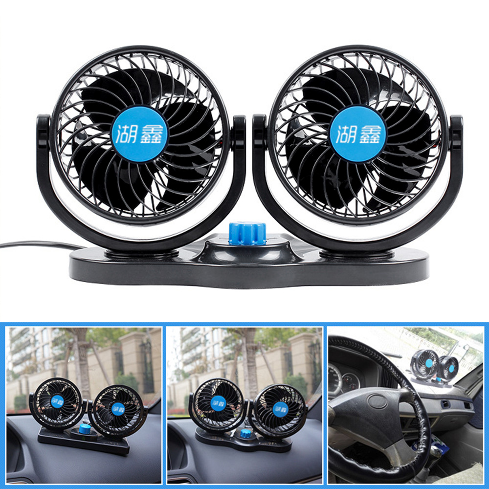 12v Fan Cooling Air Fan Powerful Dashboard Electric Car