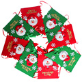 Christmas Toys 8pcs/ Set Non-woven Fabric Novelty Flag Toys for Kids Red and Green Snow Santa Claus Toys