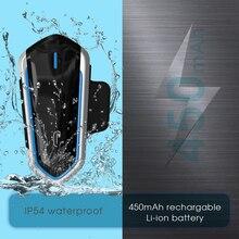 Wodoodporna IP54 kask motocyklowy bezprzewodowe słuchawki na bluetooth QTB35 jazdy zestaw głośnomówiący Radio FM Stereo MP3 słuchawki łatwa obsługa