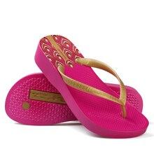Hotmarzz Women High Heel Platform Flip Flops Wedges Slippers Ladies Summer Slippers Woman House Shoes Beach Thong Sandals