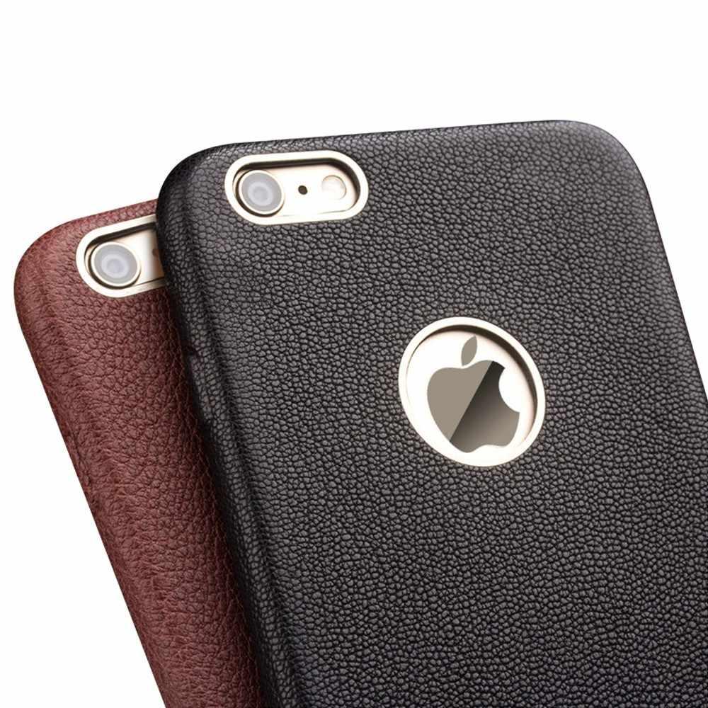 Para iphone 6 6s 4.7 ''new qialino marca genuína real natural da pele do couro full-grão couro case capa para iphone6 plus 5.5''