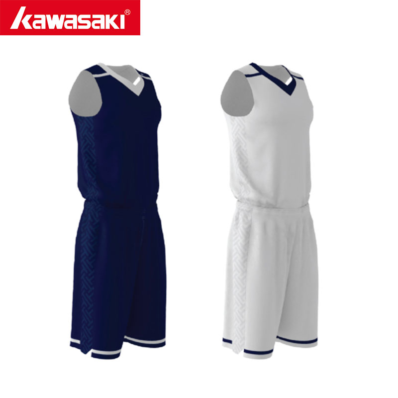 Kawasaki Custom Reversible Basketball Uniform Set Mens DarkBule/White Breathable Sport Jerseys Shorts Team Wear Practice цена