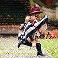 Free shipping Fashion Children Girls Cloak Autumn Winter Classic Plaid Children Shawl Outerwear 2016 New Costume Kids Coats DP1