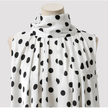 Plus Size Bow Print Big Dot Turtleneck Blouses Shirts 4XL 5XL Streetwear Sleeveless Loose Blouse 4