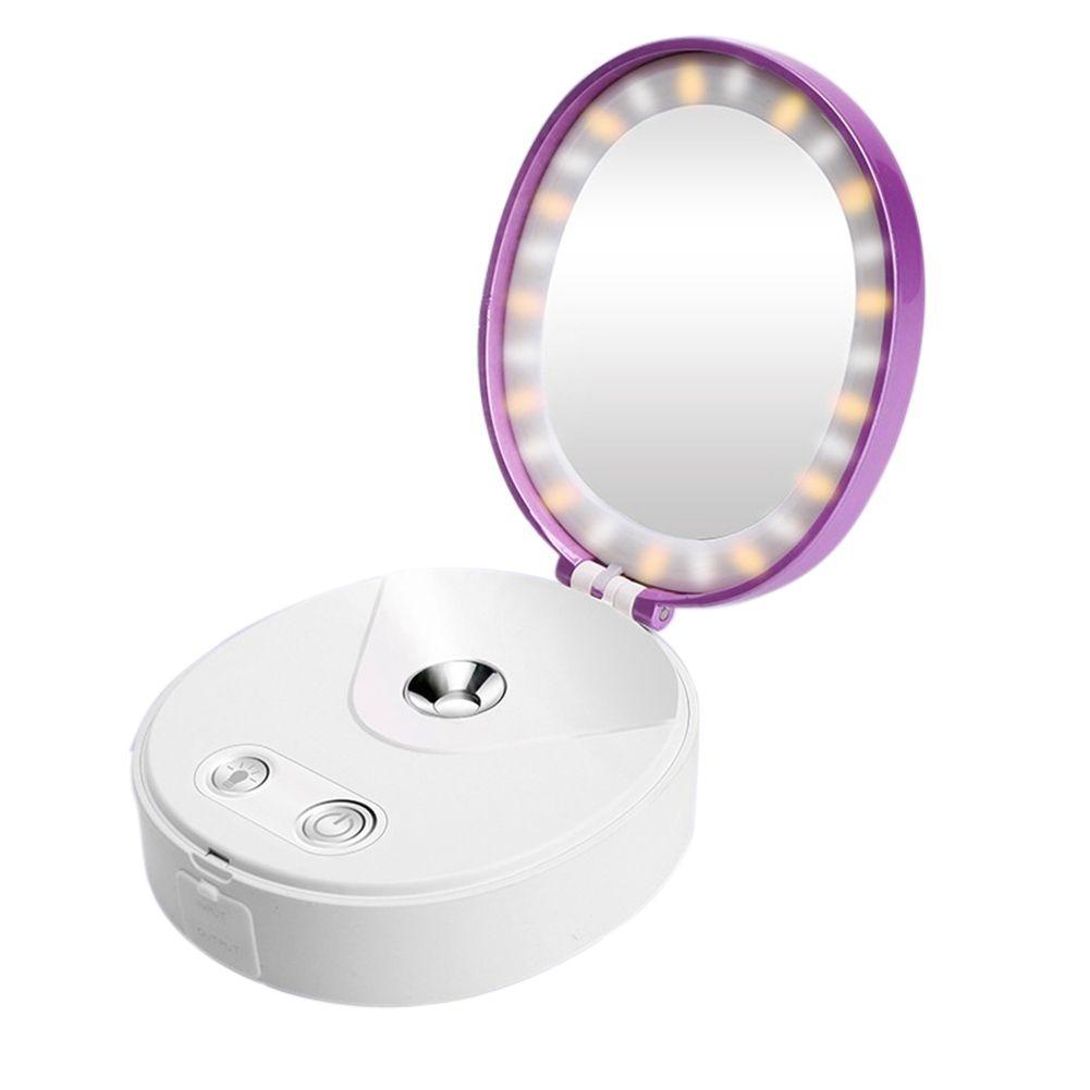 Persönlichen Make-up Spiegel Füllen Licht Klapp Spiegel Port Gutes Renommee Auf Der Ganzen Welt Kenaiya Nano Spray Nachschub Schönheit Instrument Schönheit Spiegel Lampe