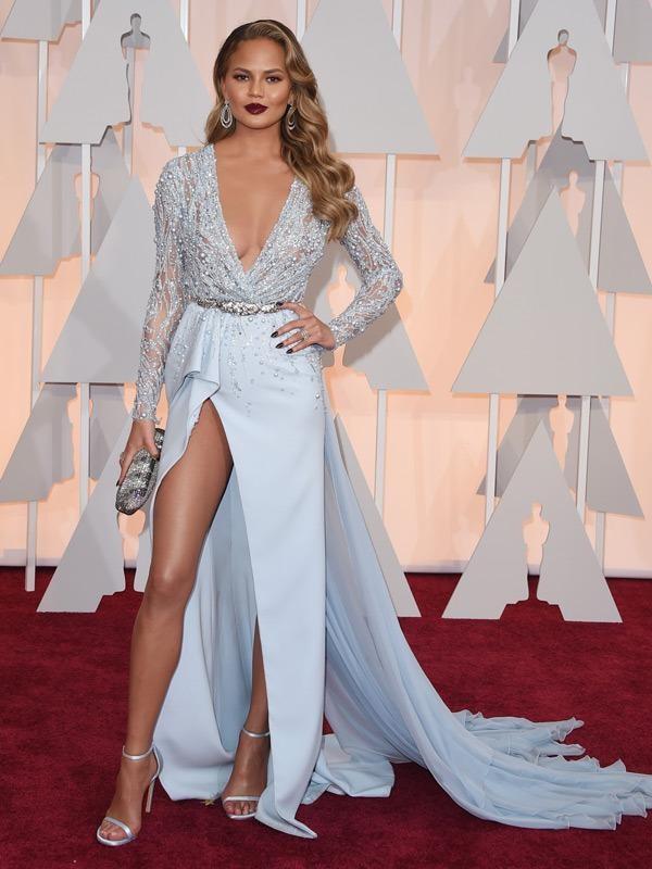 2015-Chrissy-Teigen-Oscar-Long-Sleeve-Celebrity-Dress-Vestido-De-Noche-Red-Carpet-Dress5