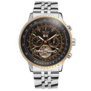 Image 2 - Jaragar Big Dial Aviator Series Military Scale Gold Elegant Dial Tourbillon Design Mens Watches Luxury Automatic Wrist Watch