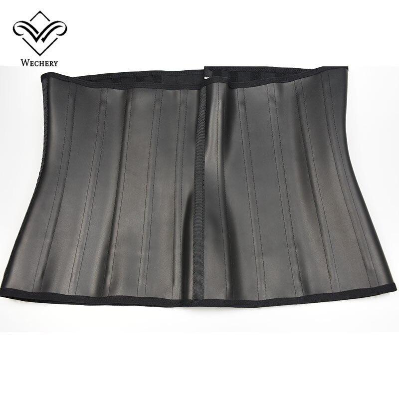 Wechery Latex Waist Trainer Corset Belly Slimming Underwear Belt Sheath Body Shaper Modeling Strap 25 Steel Boned Waist Cincher
