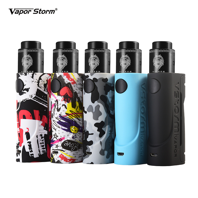 Vapor Storm Eco Rda Kit Max 90W ECO mod with 24mm Lion RDA Support RDTA Airflow Control Electronic Cigarette vaper by 18650