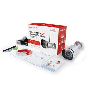 Image 5 - Foscam FI9900P HD 1080P חיצוני WiFi אבטחת מצלמה עמיד IP66 Bullet 2.0MP אלחוטי מעקב IP מצלמה