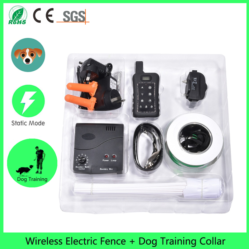 dog fence wireless containment system wire free fencing 1000m radius remote control waterproof receiver