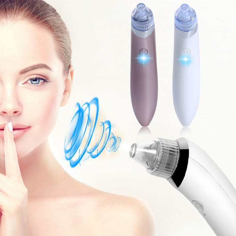 цена на Handheld Facial Cleaning Vacuum Suction Blackhead Remover Face Cleansing Device Pore Acne Remover Cleaner Machine Skin Care Tool