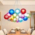 Современная светодиодная стеклянная подвесная люстра для гостиной  столовой  спальни  магазина  декоративное стекло G4  светодиодная подвес...