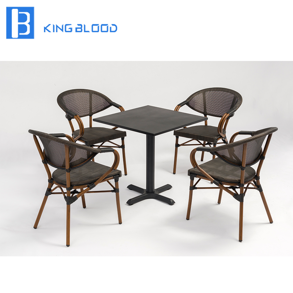 Factory price outdoor chairs and tables for coffee shop milk tea shop eat desk and chair western restaurant coffee tables and chairs cake shop furniture dessert table