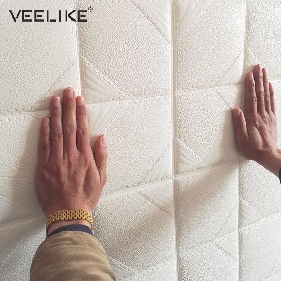 ٩(^‿^)۶60cmX60cm PE Foam 3D Wallpaper DIY Wall Stickers Wall Decor ...