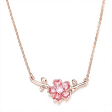 New Charm Plum Pendant Necklace Ladies Birthday Jewelry Party Clothing Accessories Fashion Creative