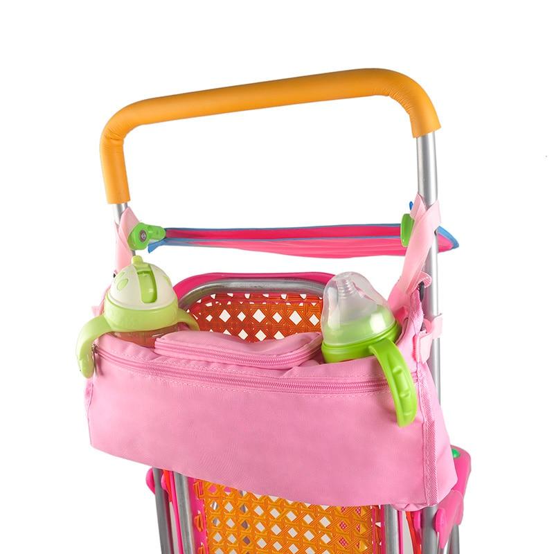 Gyerekek babakocsi táskák Bébi kocsi Pushchair Wheel Pram kiegészítők Lógó táskák Gyermek Oxford szövet Baby Bottle Cup táskák