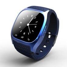 Marca de lujo M26 Bluetooth Inteligente Reloj Teléfono Resistente Al Agua para iPhone IOS Android de Pantalla Táctil LED Hombres Mujeres Digal Smartwatch