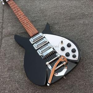 Новый продукт ricken-backer 325 электрическая гитара 3 шт пикап, реальные фотографии, бесплатная доставка черная гитара, белая Защитная pla