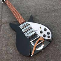 New product ricken- backer 325 electric guitar 3 piece of pick-up, real photos, free shipping black guitar, White protective pla