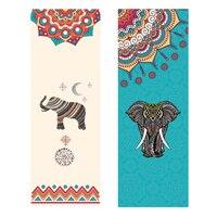 New Yoga Mats Towel Microfibre Printing Wisdom Elephant Fitness Gym Pilates Pad Cover Sports Exercise Mat Soft Cover Towel