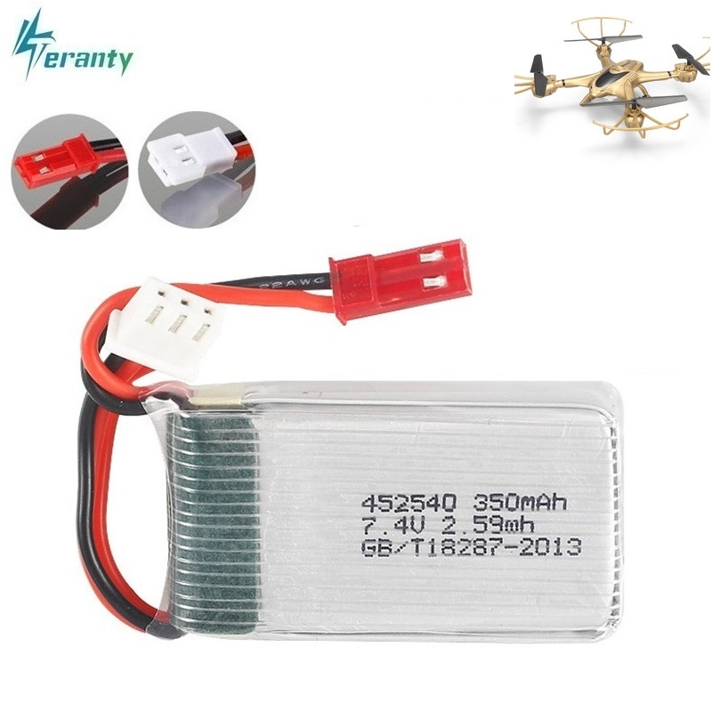2s 7.4v 350mah 35C Lipo Battery for MJX X401H X402 JXD 515 515W 515V Battery RC Mini FPV Drone Quadcopter Helicopters 3.7v 1pcs(China)
