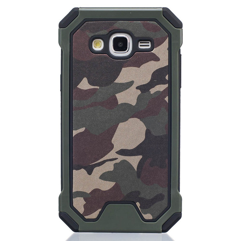 Galleria fotografica Coque For Samsung Galaxy J5 Case J500 J500F SM-J500F Shockproof Camouflage Silicone Rubber Phone Case Cover For Samsung J5 2015