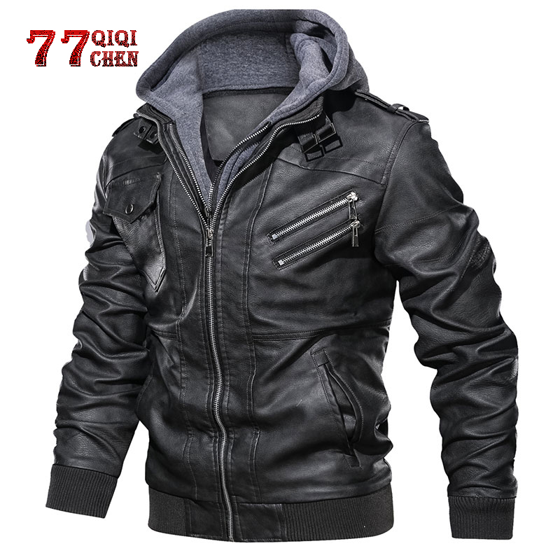 Oblique Zipper Motorcycle Leather Jacket Men Brand Military Autumn Men Pu Leather Jackets Coat Dropshipping European Size S-XXXL