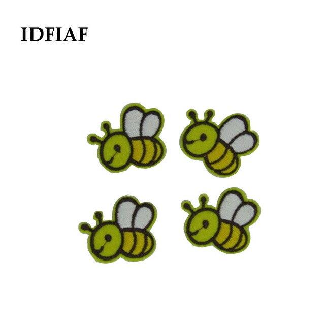 Idfiaf 5 unids conejo de dibujos animados/abeja/oso Parches bordado ...