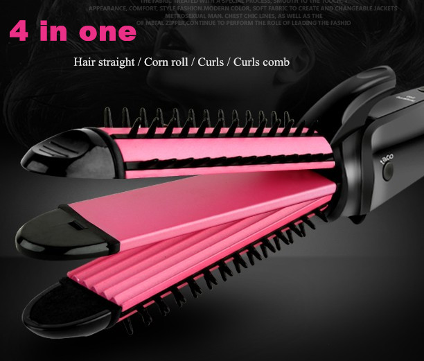 3 in 1 Styling Tool Personal hair curler Multi Curler Straightener Professional Hair Curling Iron Brish Hair Styler Wavy Roller 3 in 1 multifunction hair straightener hair curler corn plate curler ceramic coating foldable hair curling iron hair styler p00