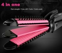 Electric Magic Hair Styling Tool Ceramic Hair Curler Artifact Dual Purpose Corn Hot Pull Straight Splint