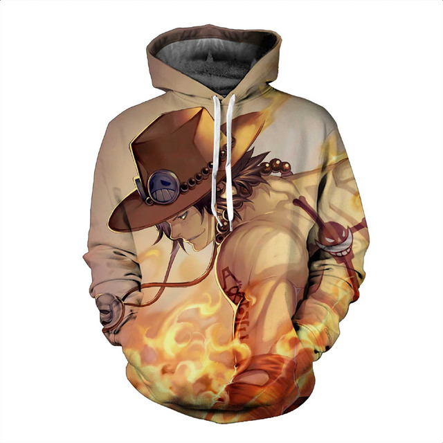 One Piece Hoodie 3D Top Quality