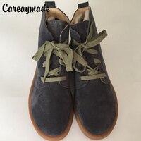 Careaymade-mùa xuân, giày da Chính Hãng, làm bằng tay Tinh Khiết khởi động mắt cá chân, Các nghệ thuật retro mori girl shoes, thời trang retro Japane boots, 2 màu