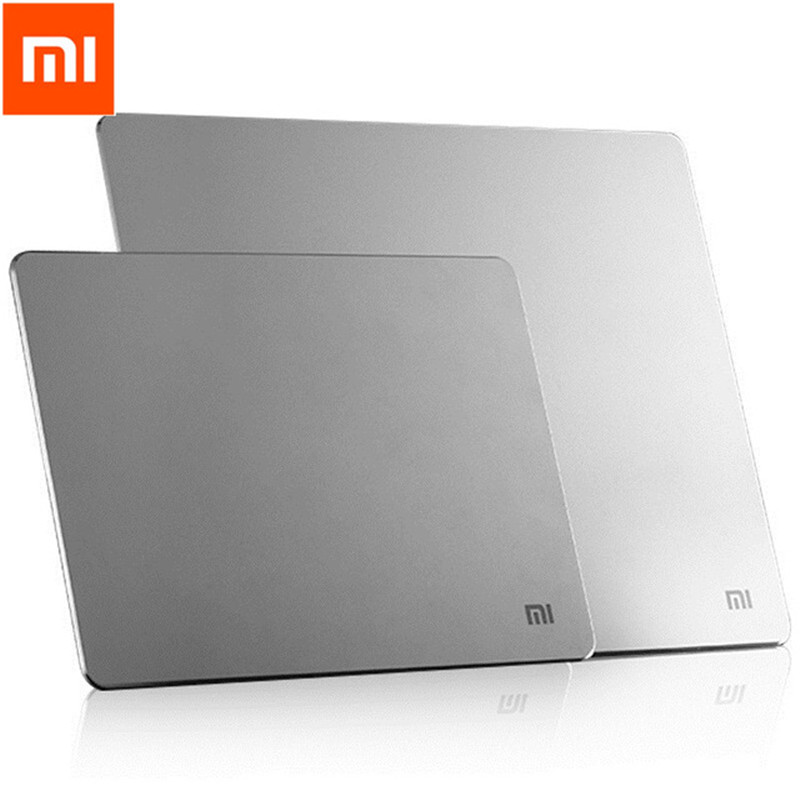 Original <font><b>Xiaomi</b></font> Metal Mouse Pad large Gaming Mouse Mat pure Metal <font><b>Mousepad</b></font> Luxury Slim Aluminum PC Computer mouse Pads Anti-skid image