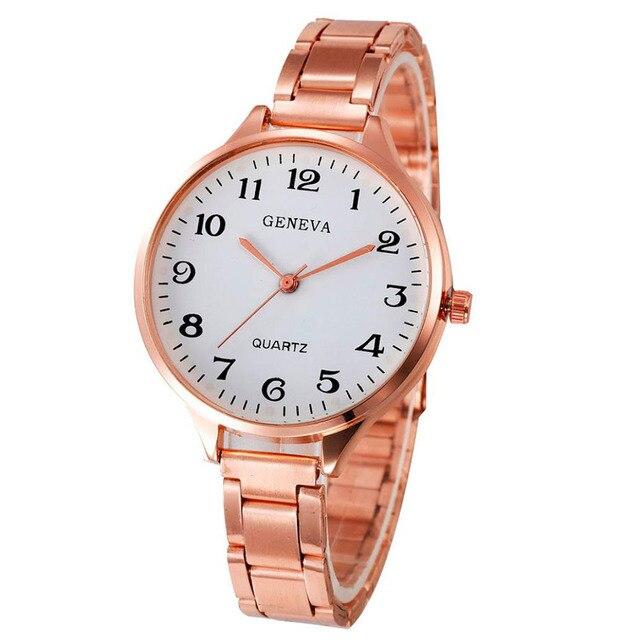 Fashion Women's Watch Crystal Stainless Steel Analog Quartz Wrist Watch Bracelet