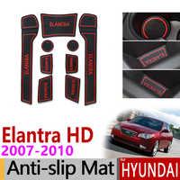 Pour Hyundai Elantra HD 2007 2008 2009 2010 tapis de fente de porte anti-dérapant en caoutchouc caboteur Avante accessoires voiture autocollants 2007-2010