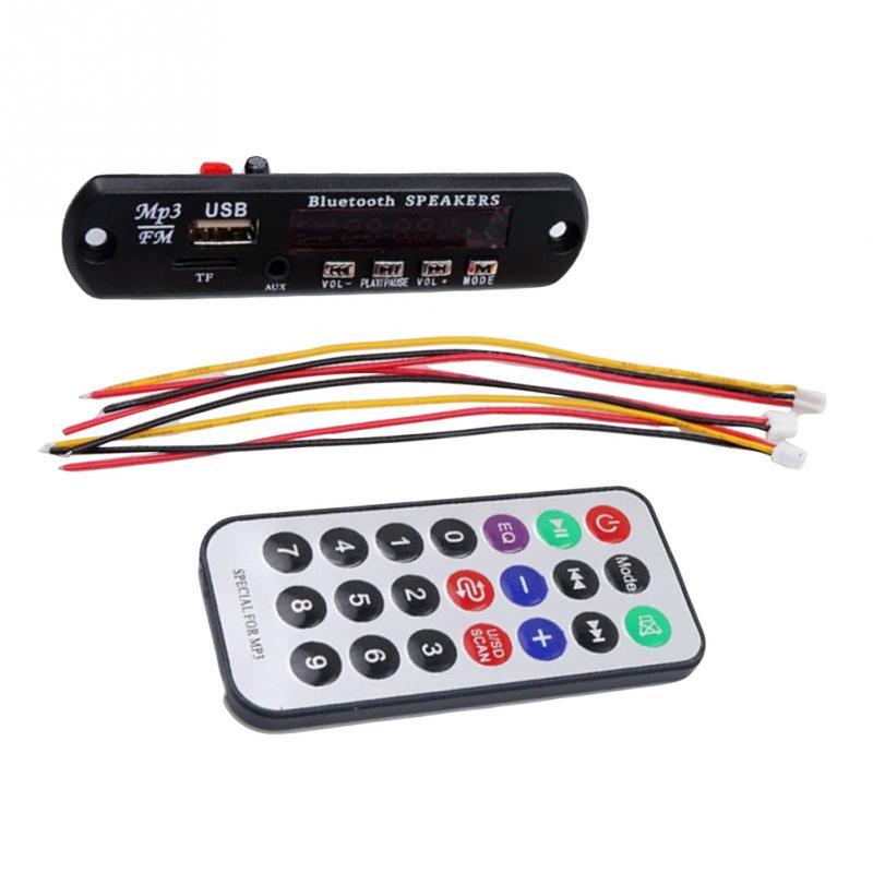 1pc Car Accessories Wireless Bluetooth 12 V MP3 WMA Decoder Board Audio Module USB TF Radio For auto wireless bluetooth 12v mp3 wma decoder board audio module usb tf radio for car