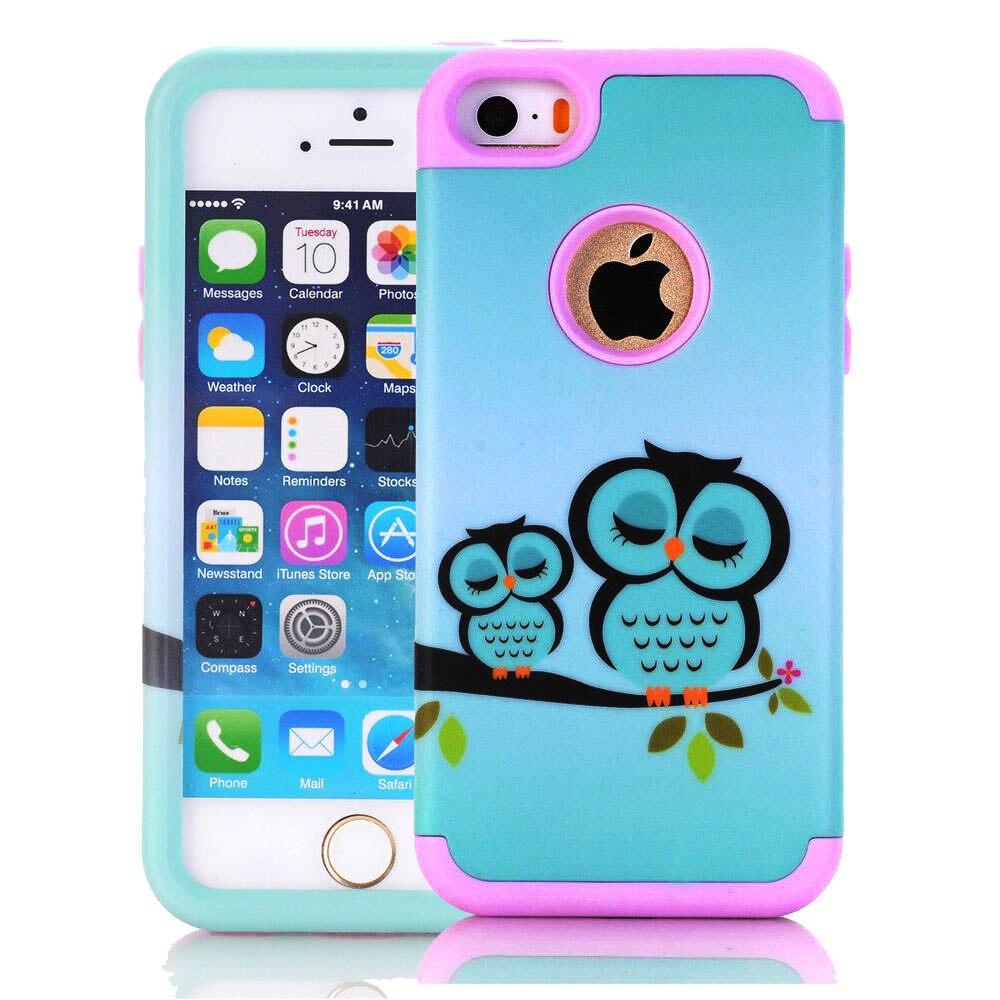 Iphone Se 5 S 5c 5 Telefon Kılıfı Için Sevimli Hayvan Kuş Baykuş
