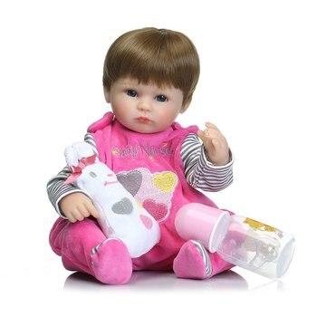 40cm Silicone Reborn Baby Doll Toy Body Soft Vinyl Dolls Newborn Magnetic Mouth Lifelike Girl Gift of Birthday Princess Toy Doll 8 inch reborn baby doll toy full silicone lifelike baby doll newborn princess toy for kids christmas birthday gift