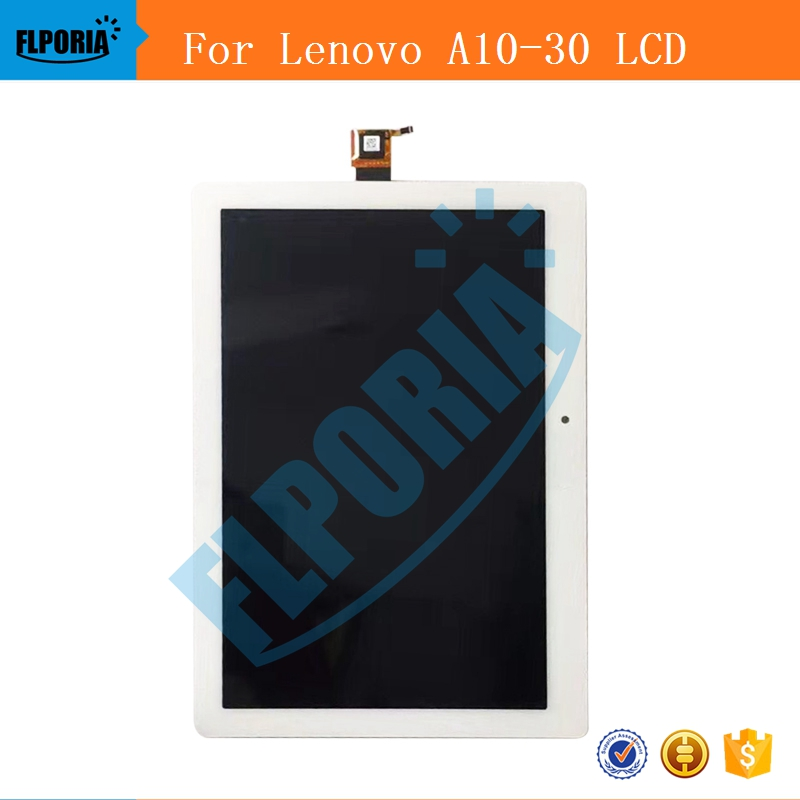 For Lenovo Tab 2 A10-30 YT3-X30 X30F TB2-X30F X30 A6500 LCD Display + Touch Screen Digitizer Glass Lens Assembly Tablet LCD 10 1 inch touch screen digitizer glass panel replacement parts for lenovo tab 2 a10 30 yt3 x30 x30f tb2 x30f tb2 x30l a6500