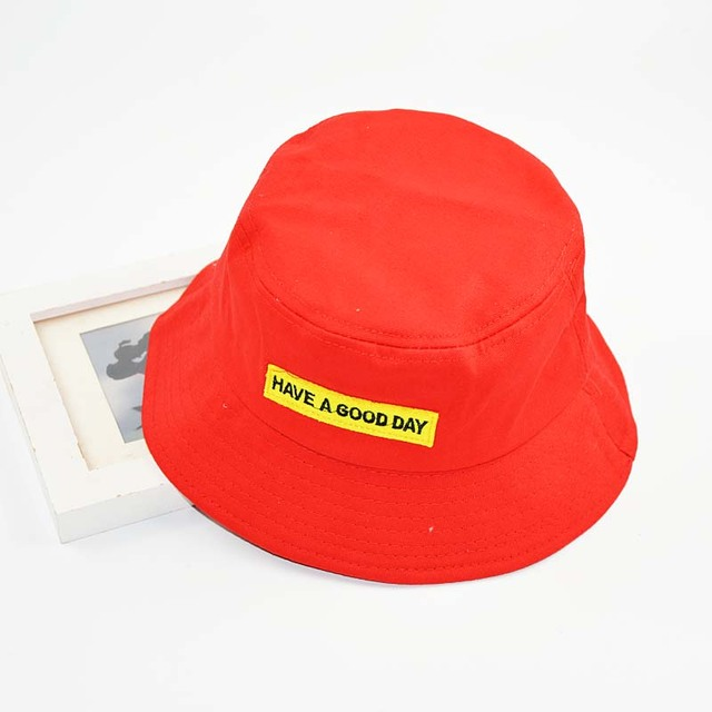 2018 Cotton Bucket Hat Hip Hop for Women and Men HAVE A GOOD DAY Summer Sun  Hat 4cf3779998b