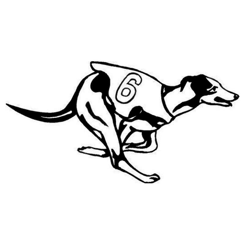 18*9.4CM Greyhound Racing Dog Animal Stickers Car Cover Scratches Fashion Decorative Accessories C6-0473