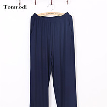 Trousers Pajamas Men Autumn Pants Bamboo Fiber Modal Solid T