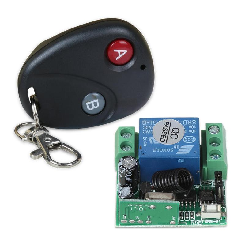 DC 12V 433MHz RF 1-Channel Remote Control Switch + Remote Control Relay Receiver Module Wireless Universal Remote Control Switch 12v 8 ch channel rf wireless remote control switch