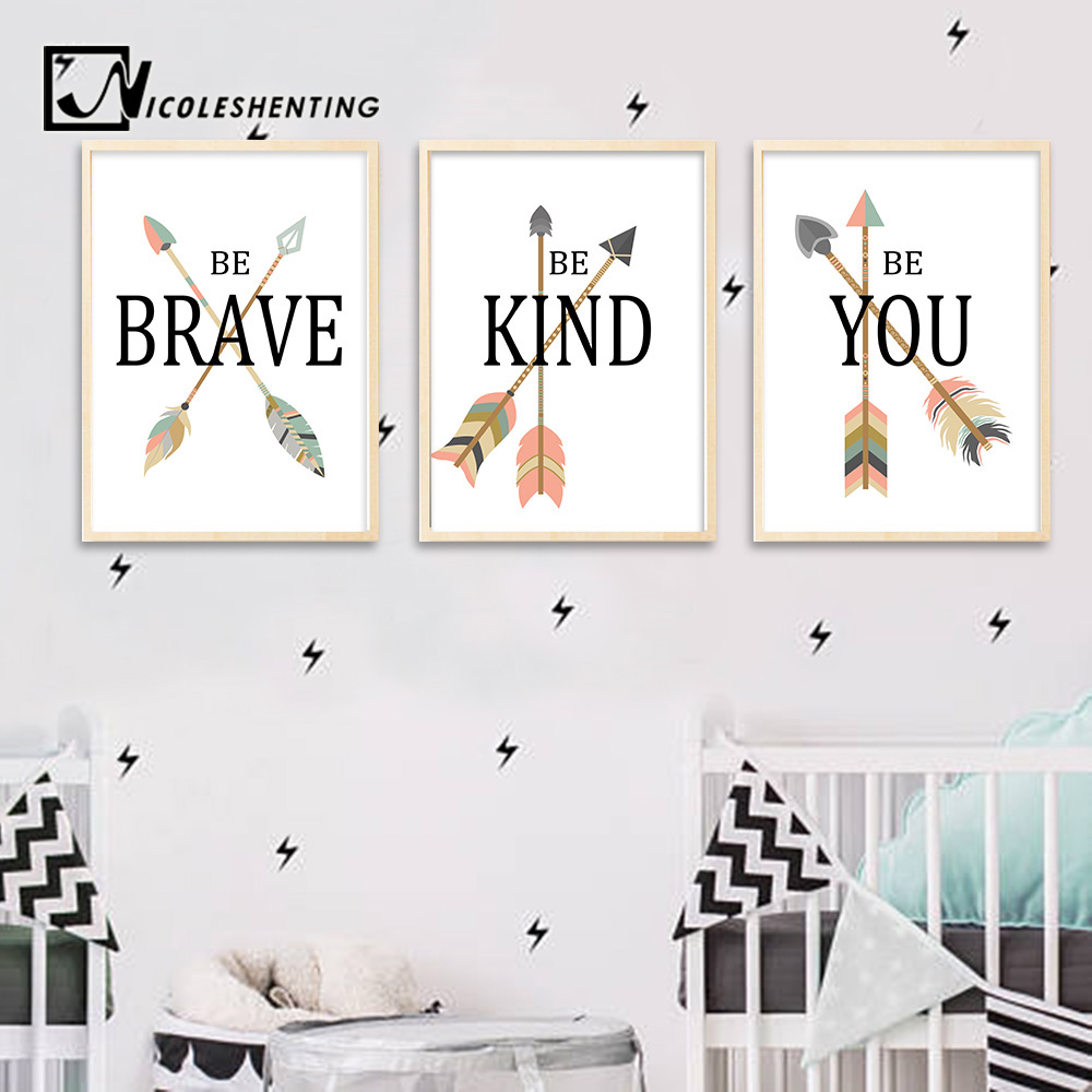 Cartoon Wall Art Canvas Poster Nursery Quote Prints Kawaii Nordic Painting Picture Kids Baby Bedroom Decoration Home Decor