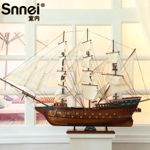 The 1.2 M large sailboat model, the wooden craft boat, the office decorates the sailboat model. Wooden crafts, boat models