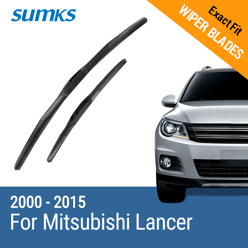 SUMKS Wiper Blades for Mitsubishi Lancer 24& 18 / 24& 16 Fit hook Arms 2000 to 2015