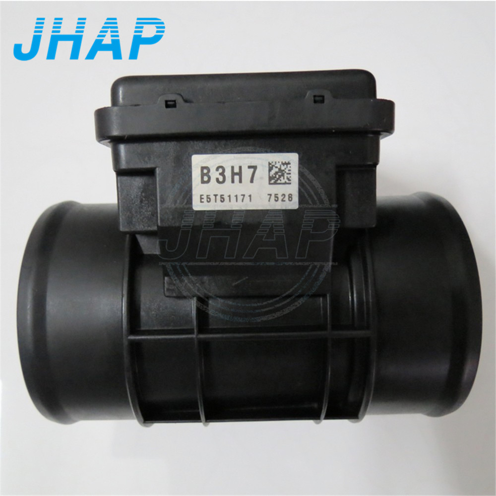 For Mazda Protege Aspire Mass Air Flow Meter MAF Sensor E5T51171 B3H7-13-215 B3H713215 mass air flow maf sensor oem f37f 12b579 fa f37f12b579fa for mazda b 3000 taurus sable tracer k m