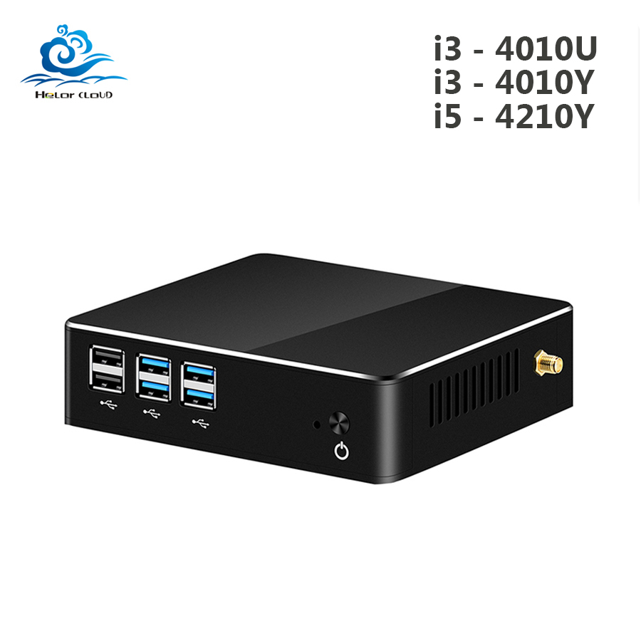 Mini PC Core I5 4210Y I3 4010Y Windows 10 HD Graphics 4200 480GB SSD USB VGA WIFI HDMI Mini Computer Gaming Desktop Pc